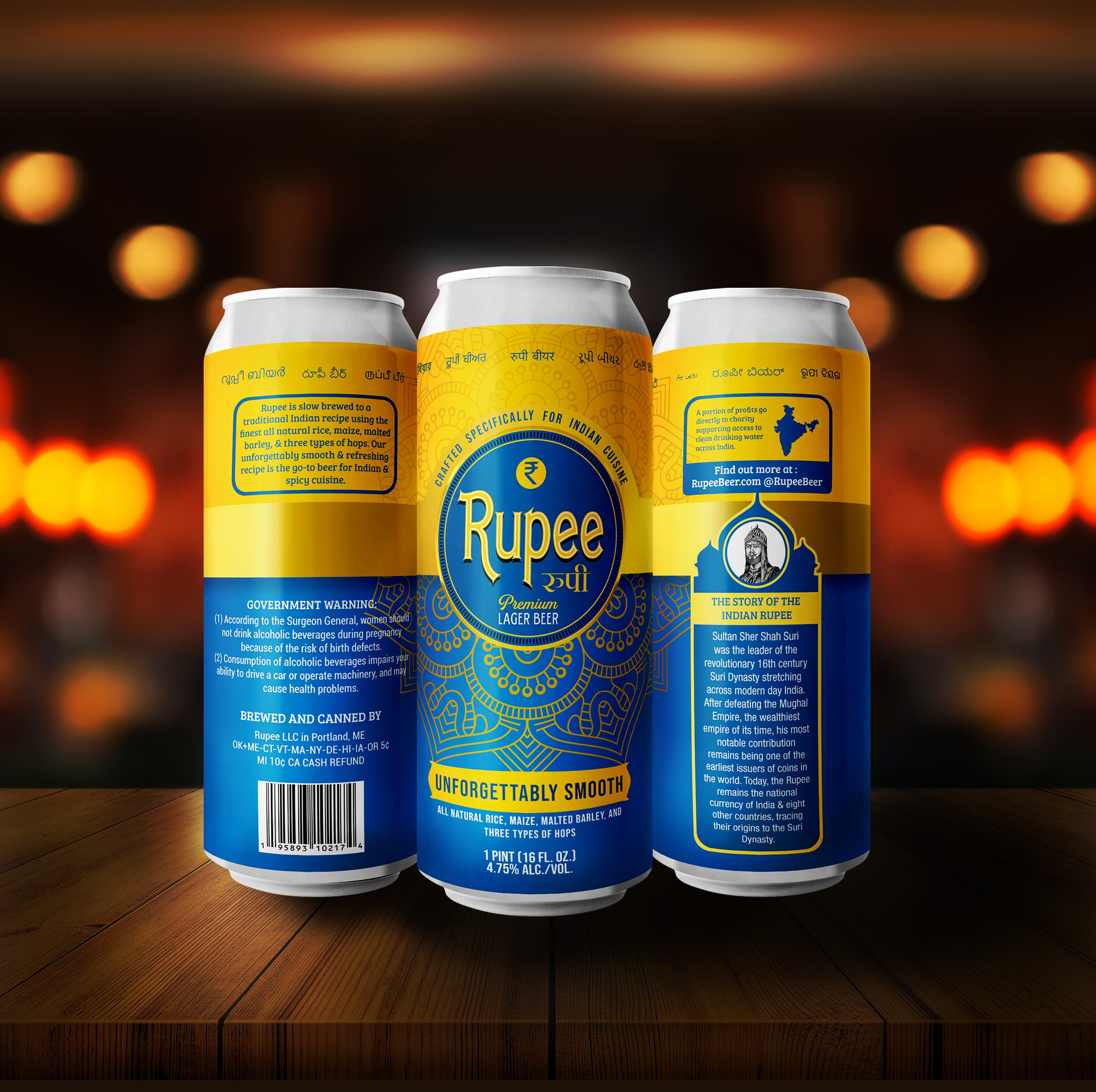 Indian Lager Beer Label