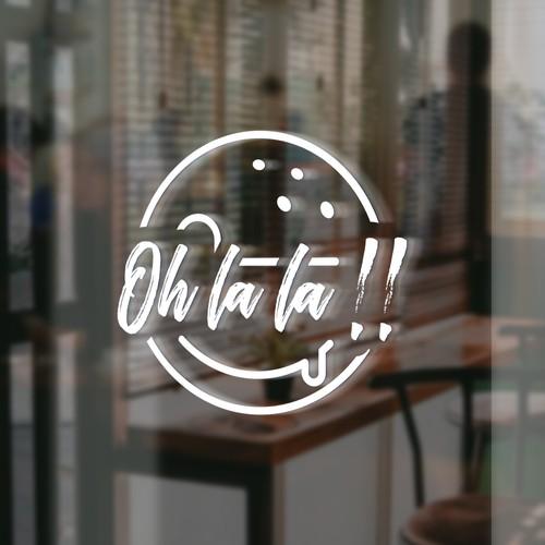 OH LA LA logo design