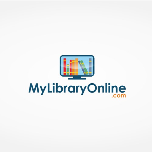 Create a modern and inspiring logo for MyLibraryOnline