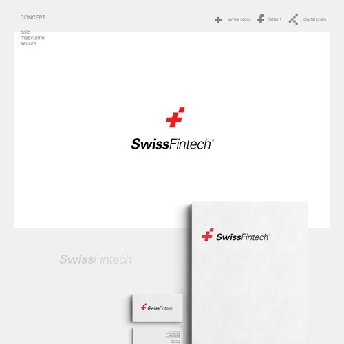 Bold, Modern, Minimal Logo Design for Swiss Tech Brand