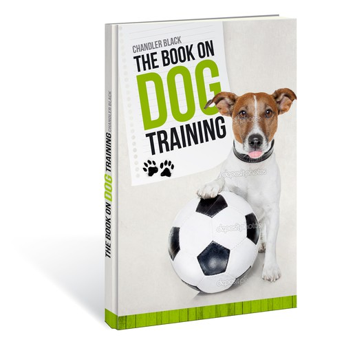 "Create a playful and clean cover for ""The Book on Dog Training"""