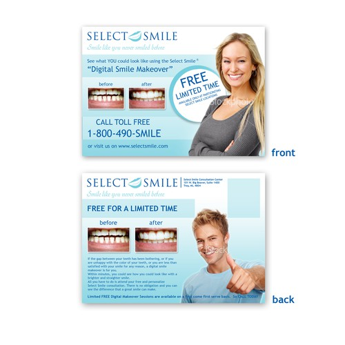 Post Card for FREE SelectSmile Digital Smile Makeover
