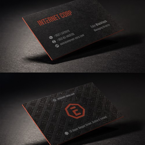 Business Card Design For Internet Corp
