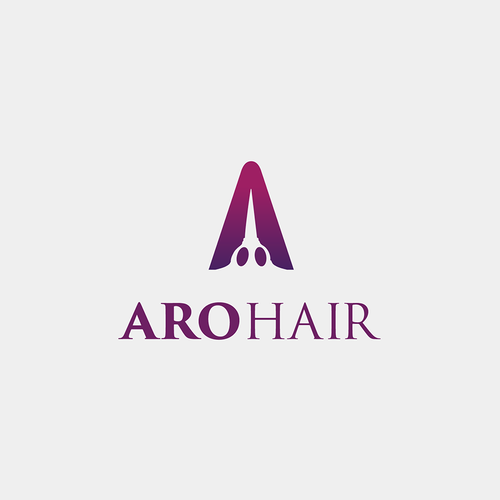 Negative Space Logo Concept for a Hair Studio