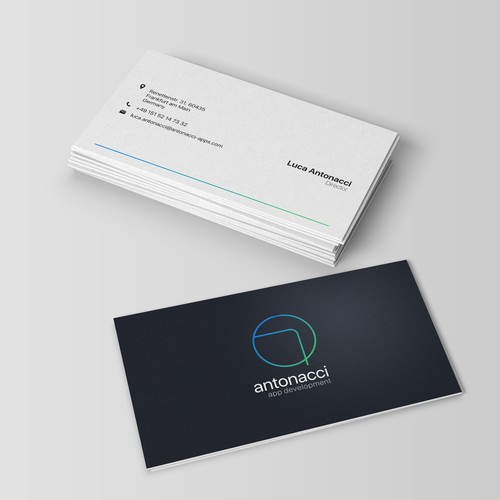 Business card for antonacci apps development