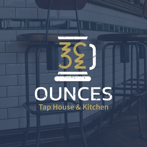 Smart, industrial-looking logo for a tap bar and kitchen