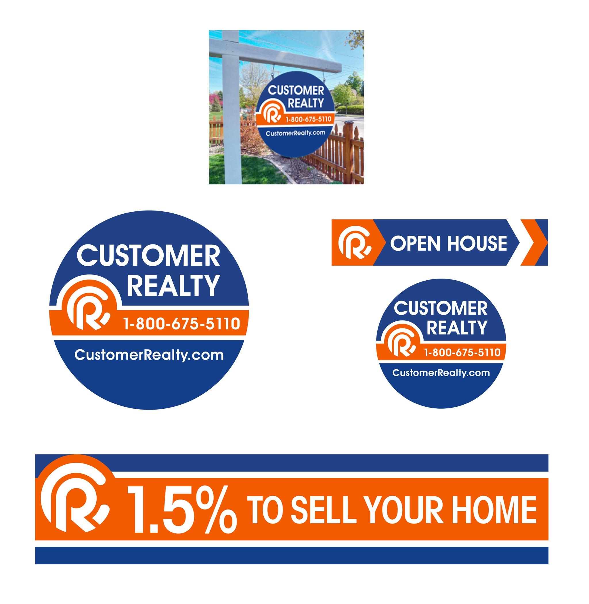Hi!!! Please help me design a modern high-impact circular real estate sign!!