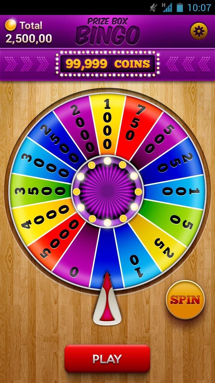 PrizeBox Bingo - Android Mobile App - Guaranteed Prize