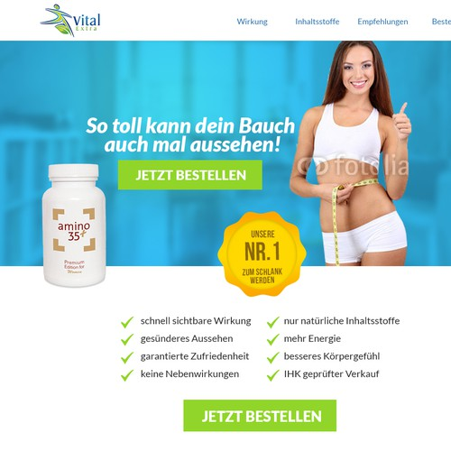 Landingpage forAlso  supplement product to loose weight