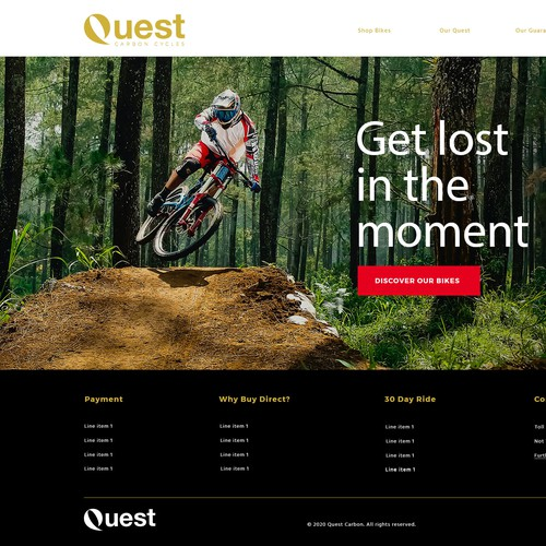 Dynamic Homepage design for Sports website
