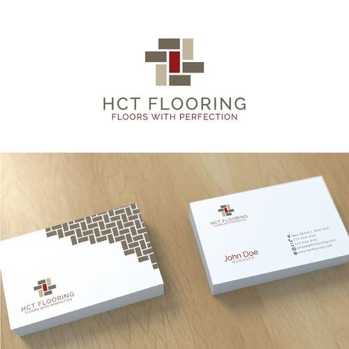 Simple modern logo for flooring comp..