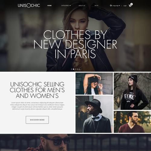 web design concept for Unisochic