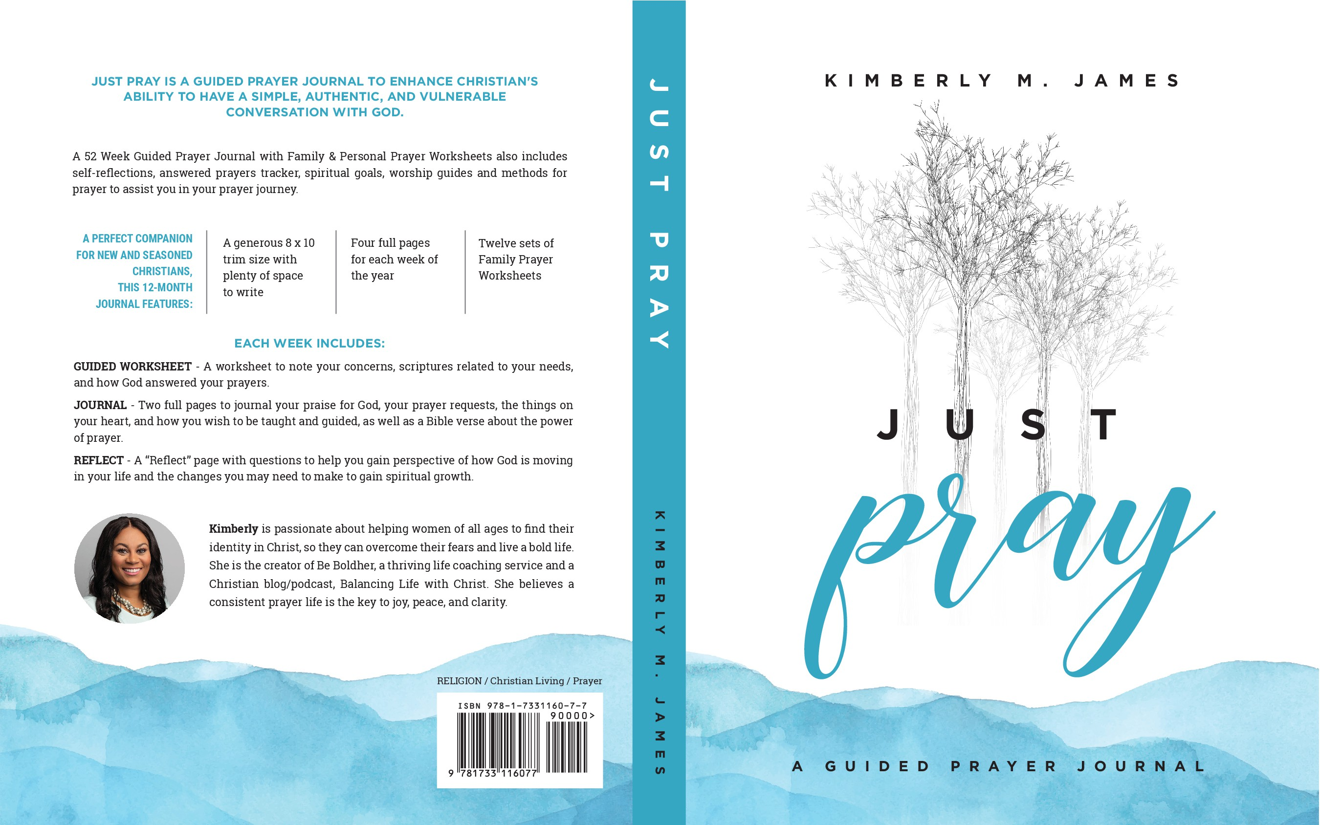 Christian Prayer Journal in need of a modern-pop book cover