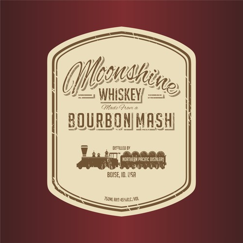 moonshine whiskey logo design