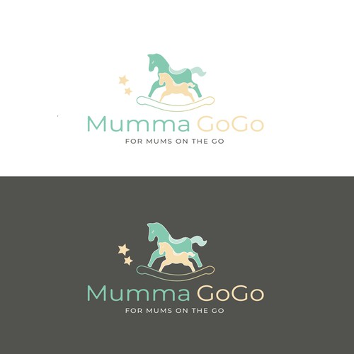 Logo for a start-up brand selling a range of baby products to be used on the go
