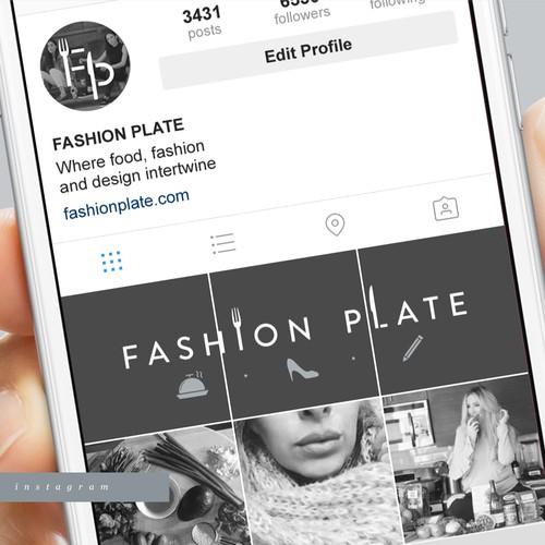 Minimalistic and sleek logo for a Food & Fashion Blog