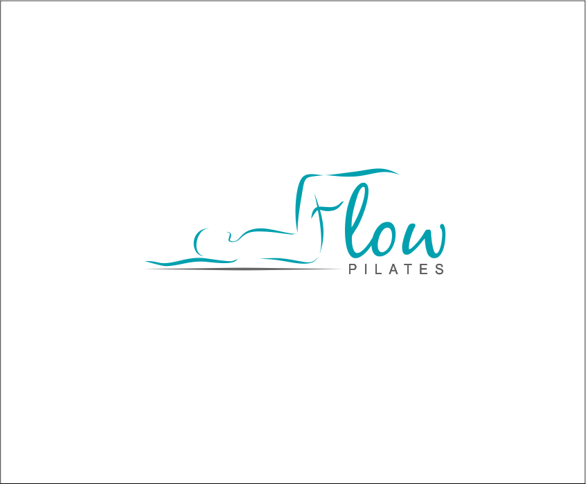 Create a flowing, watery logo for Flow Pilates