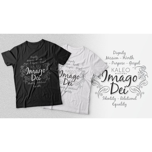 Create a hip, minimal typography-based shirt for our urban missions program