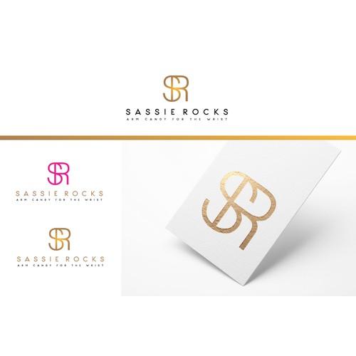 SASSIE ROCKS logo design
