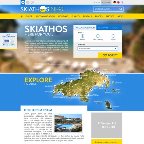 Design a Stunning Tourism Site for a Greek Island with Ongoing Design Work Opportunity