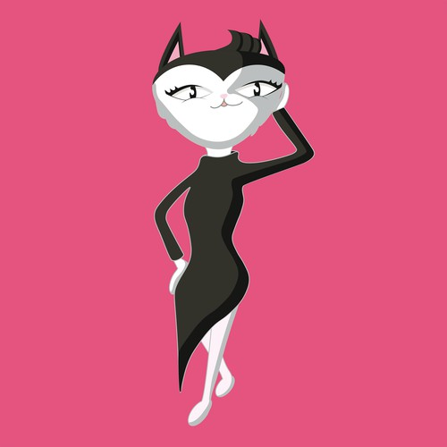 Sassy Cartoon Mascot (Cat)
