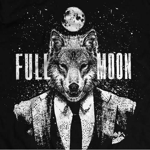 FULL MOON Urban T0shirt Design