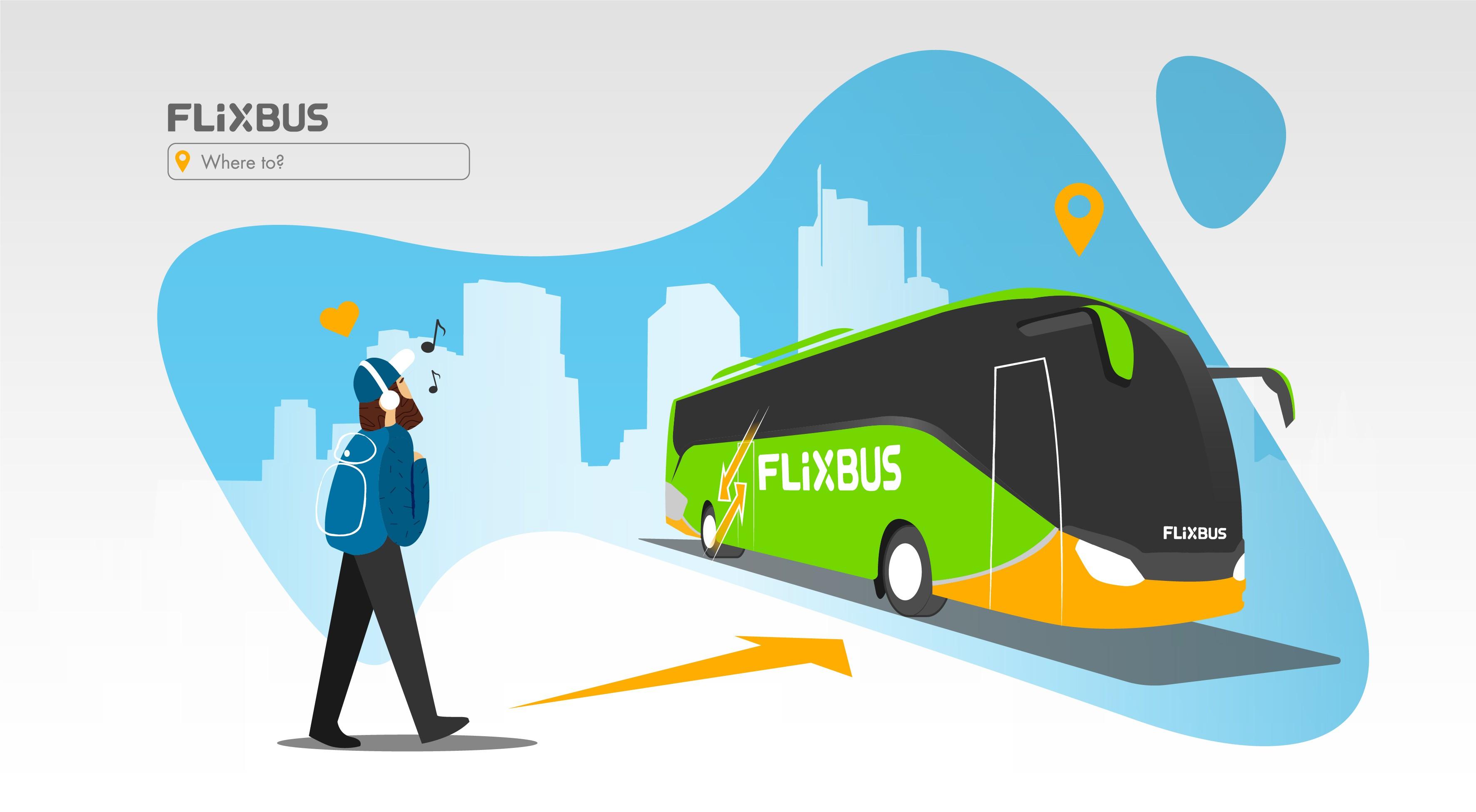 New Illustration Style for FlixBus