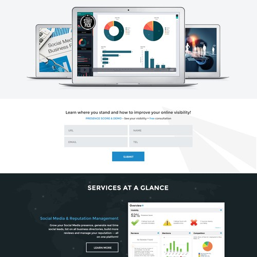 New Website Design - Marketing Agency   (Layout and content provided!)