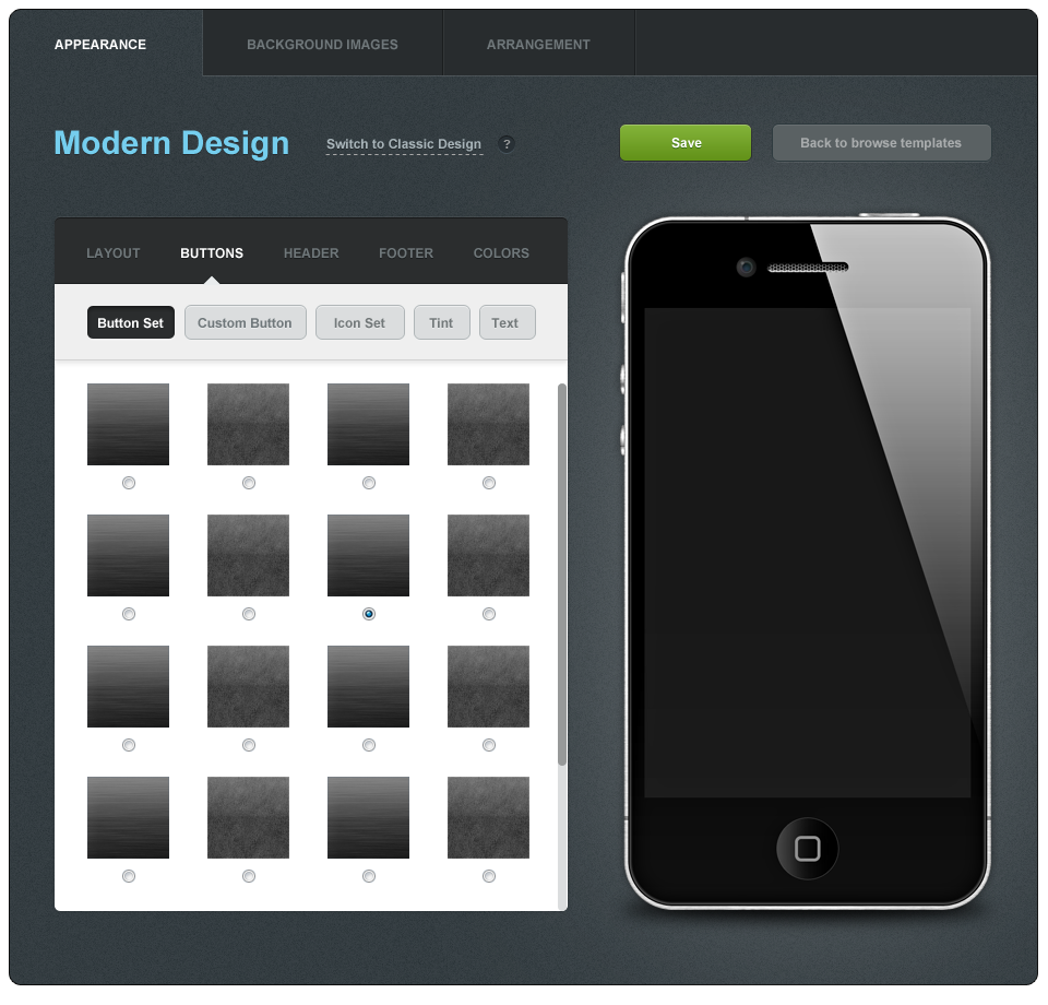 Create the next website design for New Layout For Mobile APP Builder