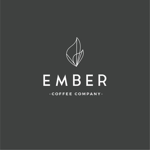 Minimalist logo identity for coffee company