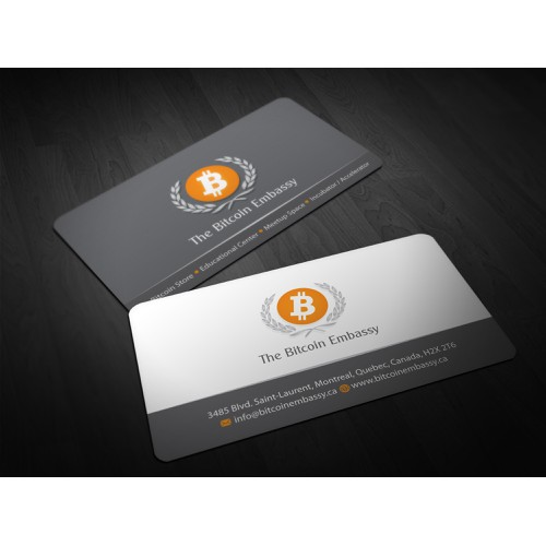 business card for Bitcoin Embassy