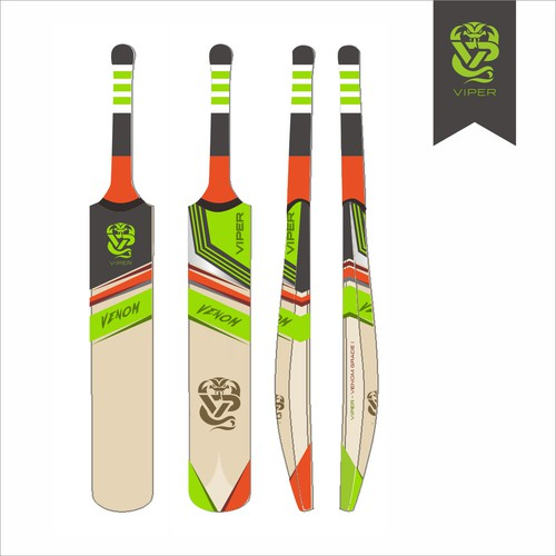 Sophisticated Cricket Bat Design For Viper Cricket Company