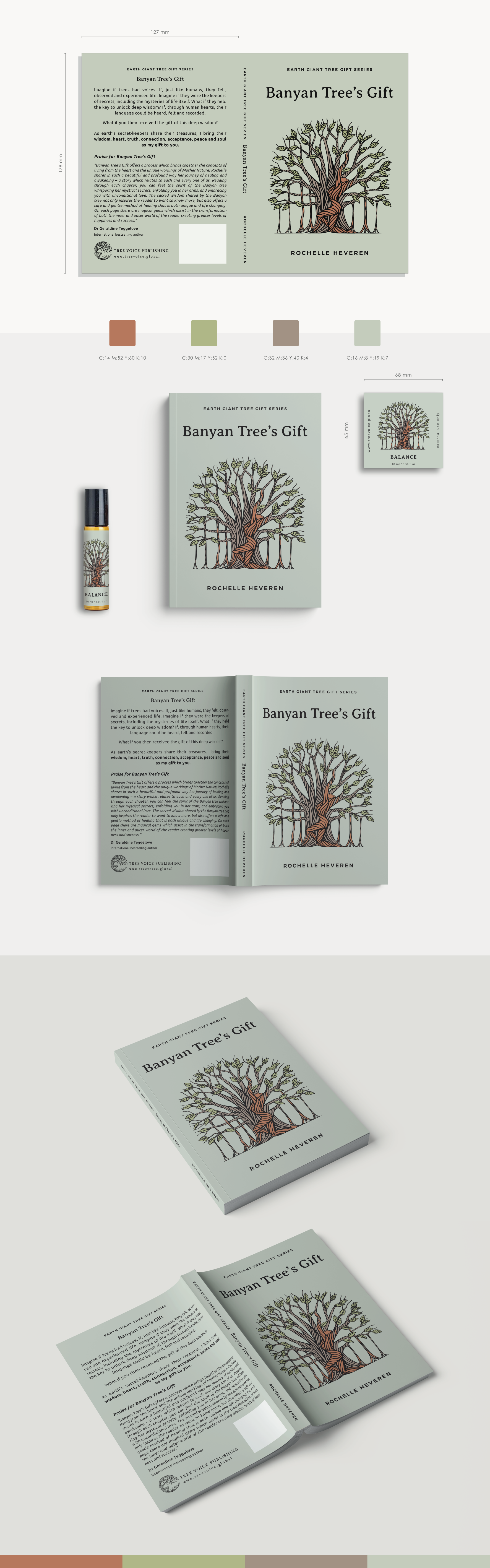 Banyan Tree's Gift - Book Cover and Essential Oil Bottle Sticker