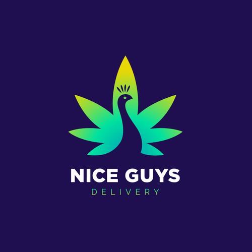 Creative logo for marijuana delivery.