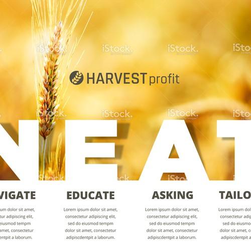 Harvest Profit Poster Design