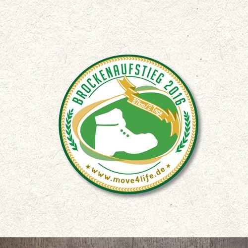Bold sticker concept for sport