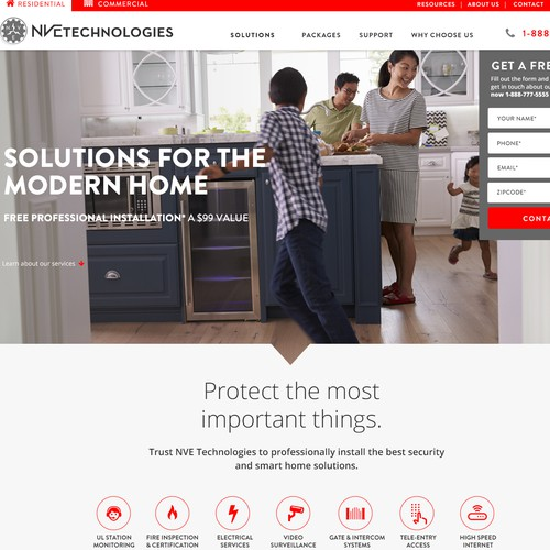 Web design for home services company