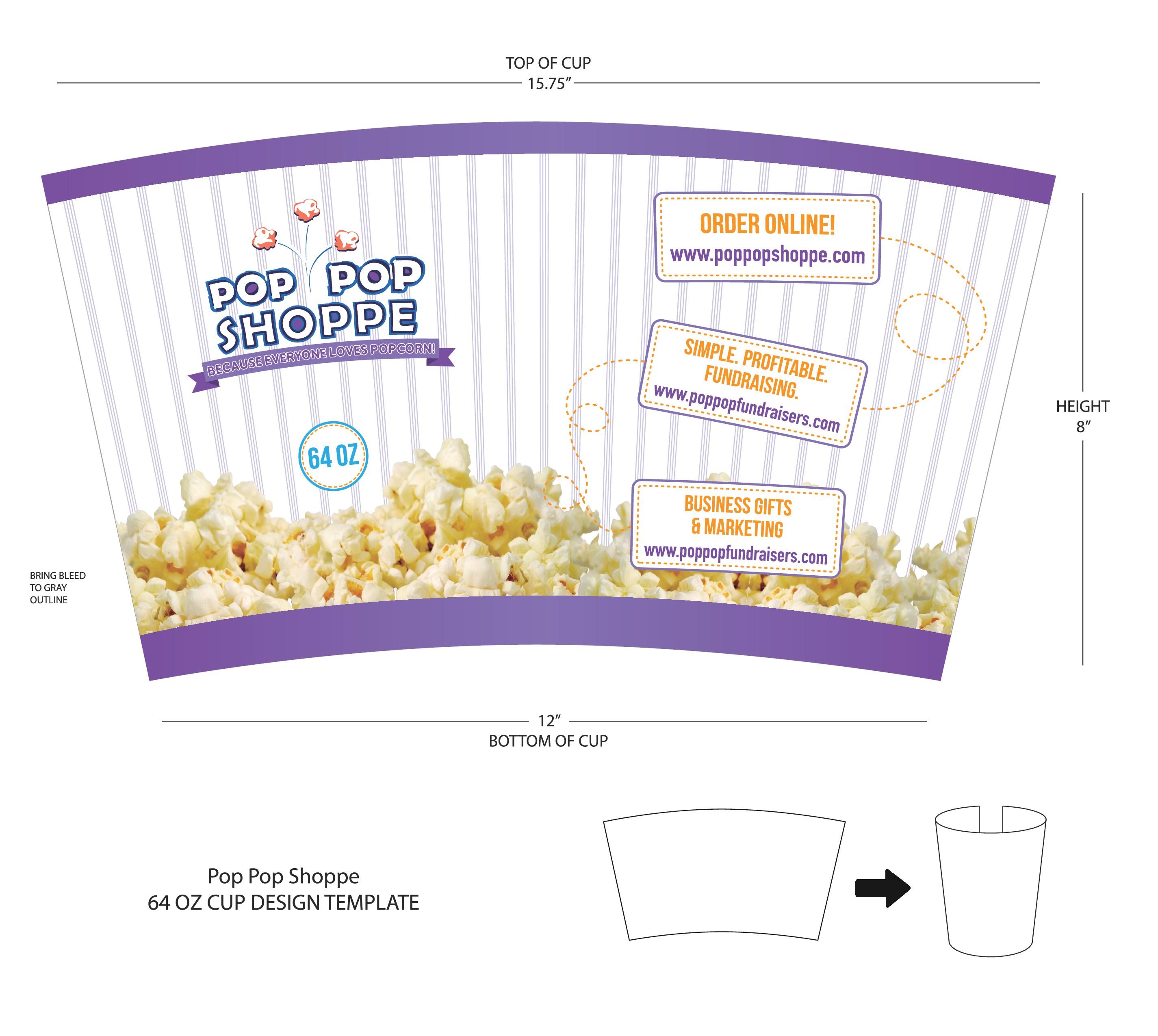 Fun Retail Popcorn Snacking Cup