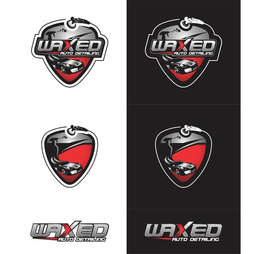 Create a striking logo to make waxed auto detailing really stand out of the crowd