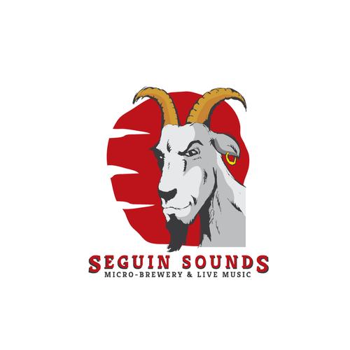 Bold rebel goat logo