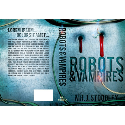 Create an awesome cover for my first novel, Robots and Vampires!