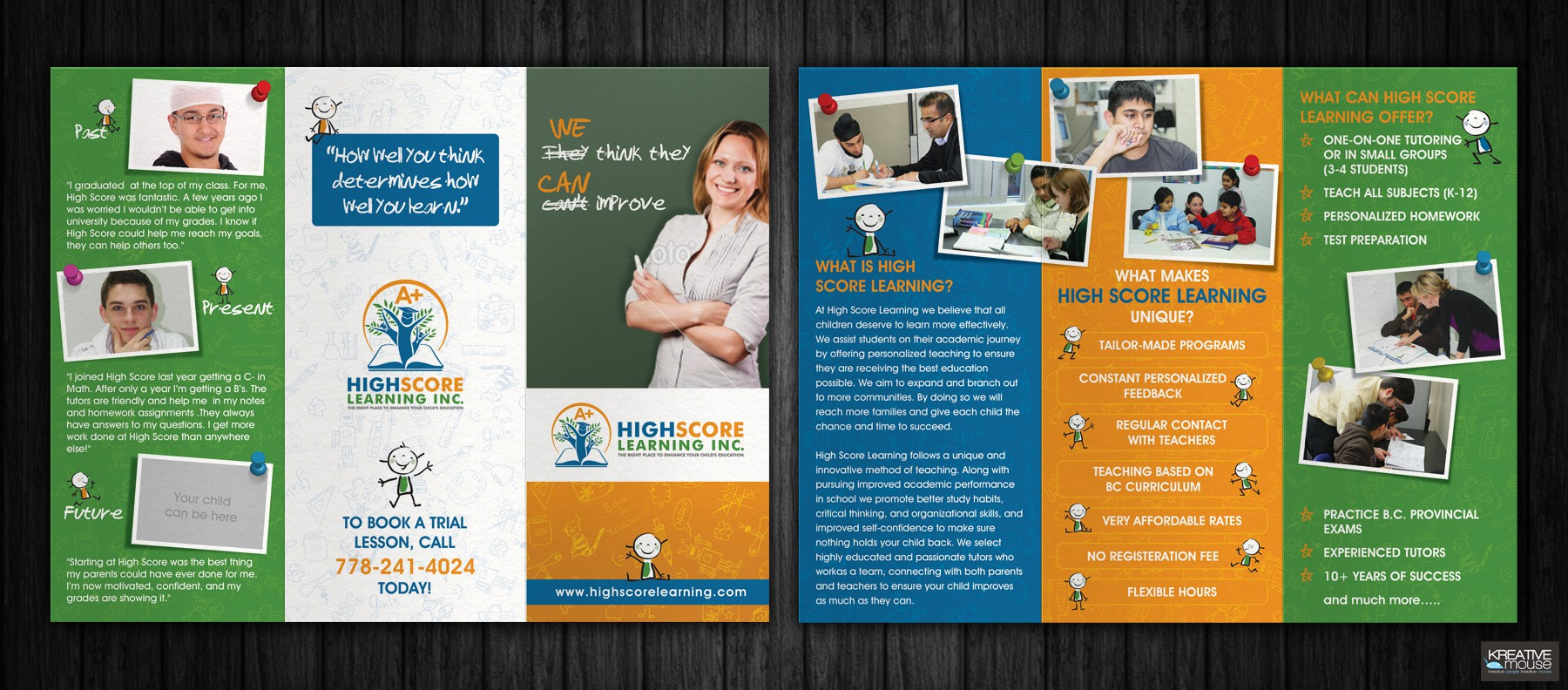 FIRST BROCHURE FOR  TUTORING COMPANY