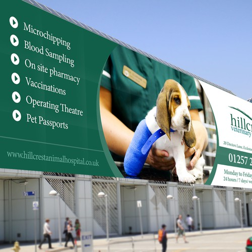 Create an eye catching banner for a Veterinary hospital.