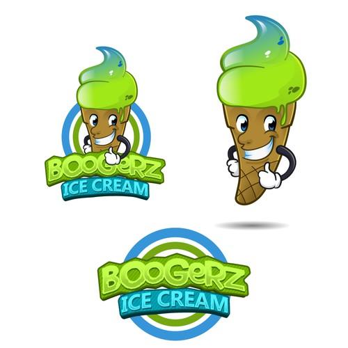 Boogerz Ice Cream Mascot