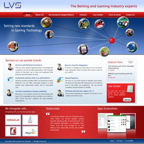 Web 2.0 Site for Online Gaming Platform Developer