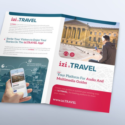 Brochure for izi.TRAVEL platform