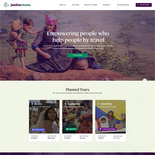 Web Design For Justice Travel