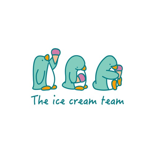 Cute logo for ice cream trucks