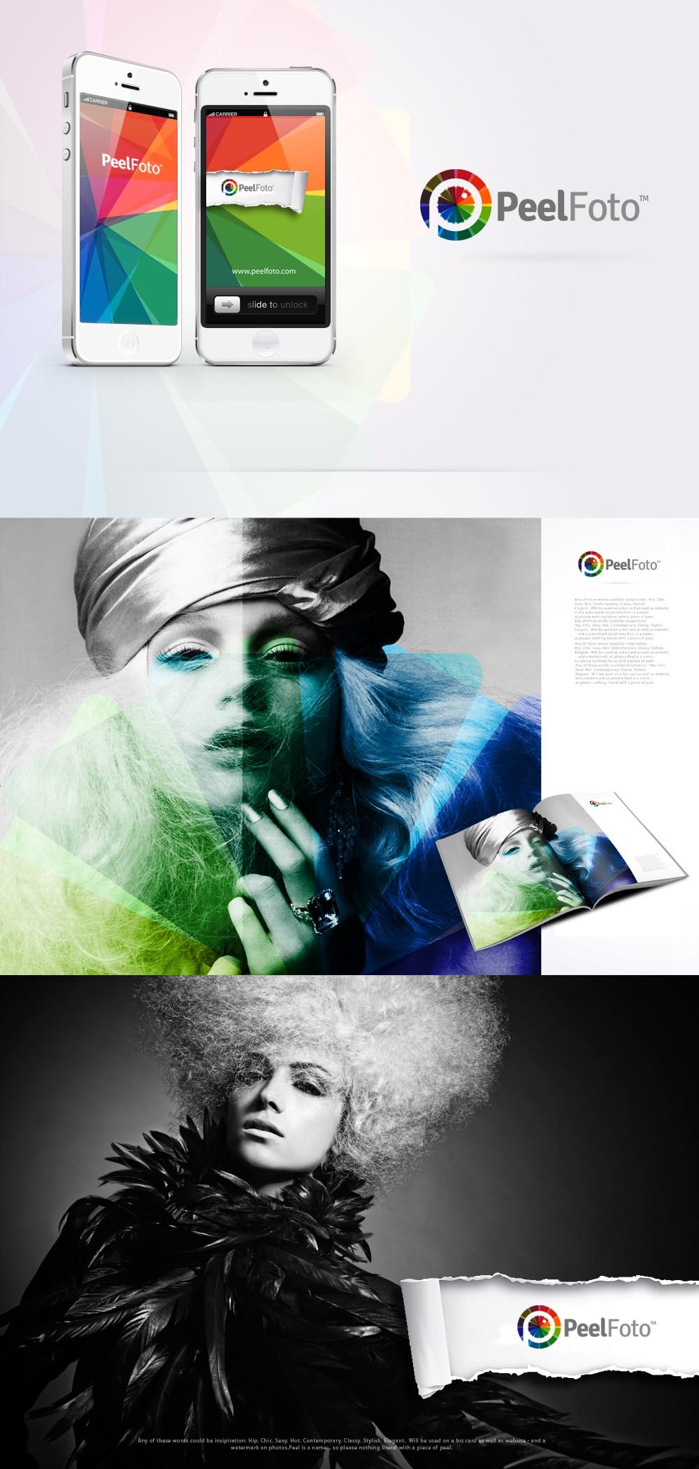 Create the next logo for PeelFoto or Peel Foto
