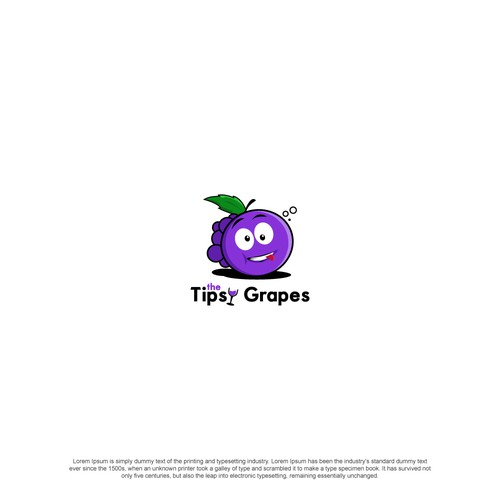 Logo concept for the tipsy grapes
